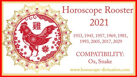 Chinese Horoscope 2021 Rooster: White Metal Ox Year ⬅️