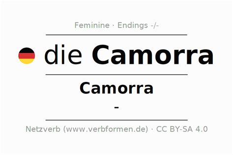 Declension Camorra (Camorra)   All forms, plural