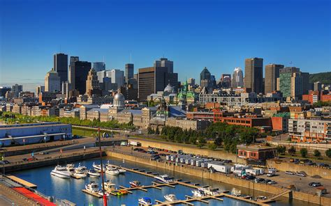 Sunny Morning on Montreal, Canada   Montreal skyline summe