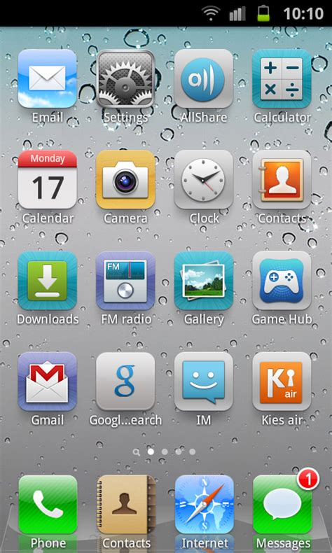 Get iOS5 Looks, Theme & Layout on Android with Espier