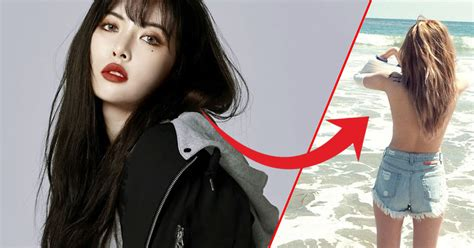 HyunA Once Went Out Topless During A Los Angeles Vacation