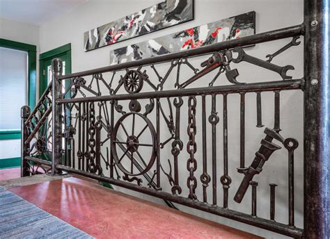 A Unique Stair Railing Made of Repurposed Materials - Old
