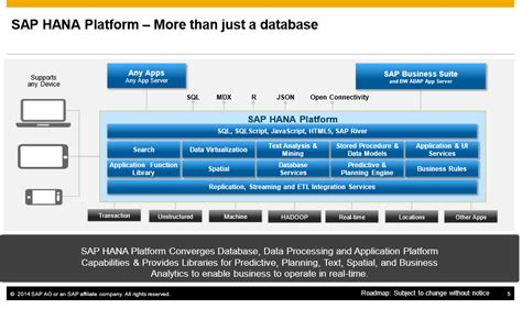 Take-Aways from SAP HANA Update and Overview of SAP HANA