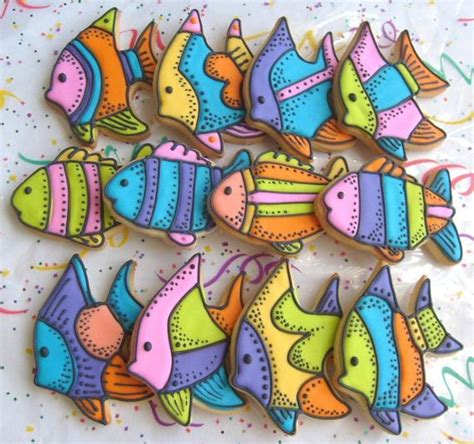 Tropical Fish Decorated Cookie Favors Fish Cookies Fish