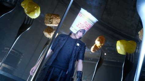 Cup Noodle head for Noctis coming to FFXV, get it early