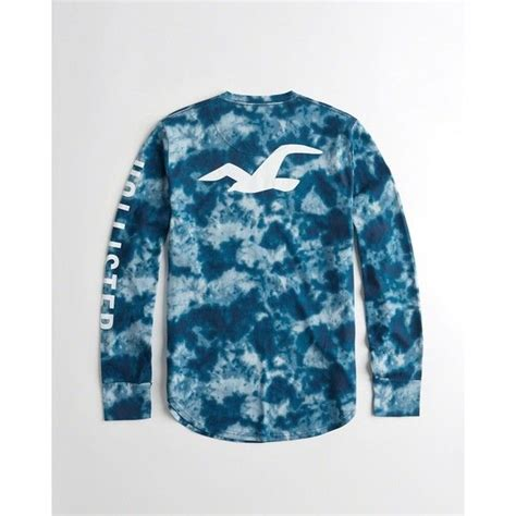 Hollister Tie-Dye Logo Graphic Tee ($25) liked on Polyvore