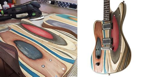 Student Takes Used Skateboard Decks And Turns Into Guitars