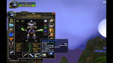 World of Warcraft Level 60 Rogue Talents and Gear - YouTube