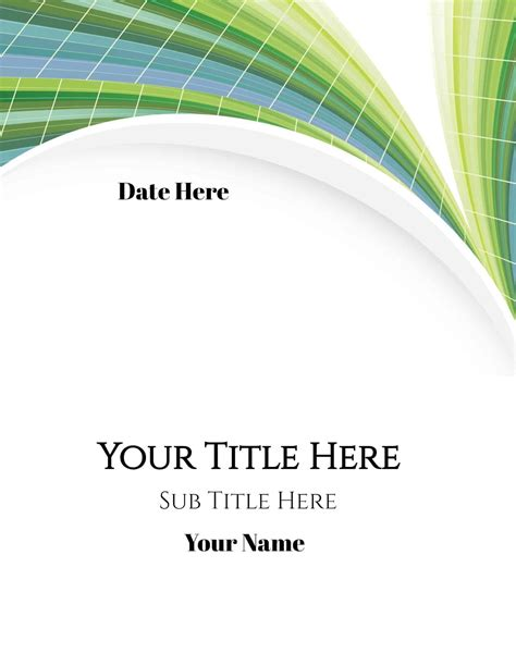 Free Cover Page Maker   Create Online in under 1 Minute!