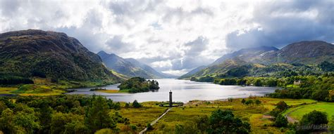 Glenfinnan Monument Panorama   Travel Photography and