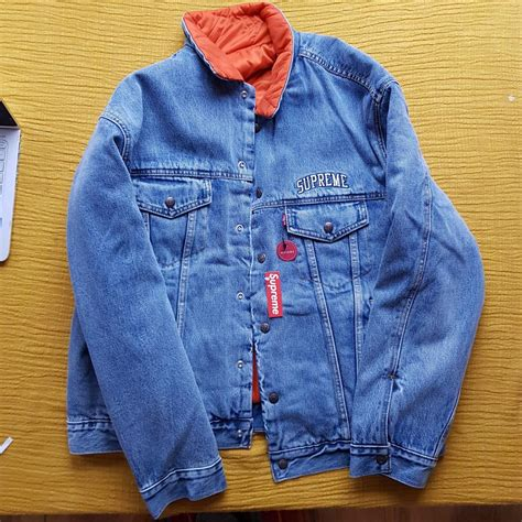 Supreme x Levis Reversible Quilted Trucker Jacket