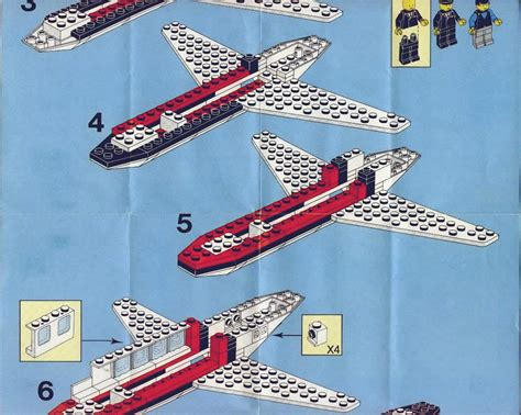 LEGO Jet Airliner Instructions 6368, Town