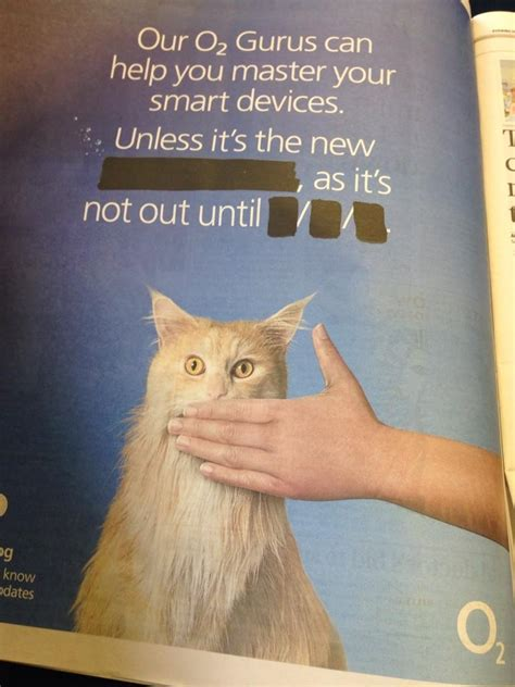 Check out cheeky newspaper ad by British carrier O2 that