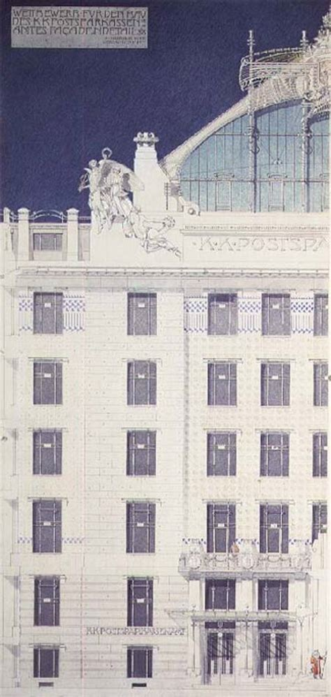 Post Office Savings Bank, Vienna, design - Otto Wagner as